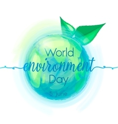 Go Green of mother earth vector image