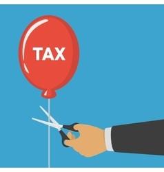 Hand cutting tax balloon string vector