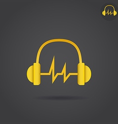Headphone with sound wave vector