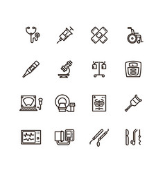 Healthcare medical equipment and hospital line vector