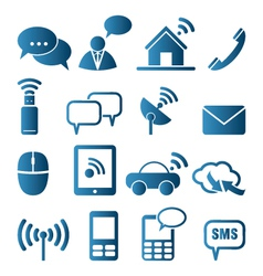 Icon set of communication vector