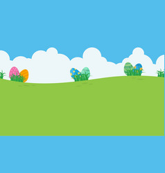 landscape of easter egg and sky vector image