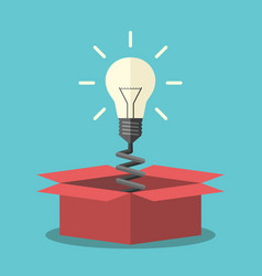 light bulb from box vector image