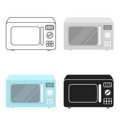 microwave icon in cartoon style isolated on white vector image