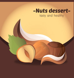 nuts dessert vector image