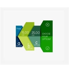 Paper infographic banners and stickers vector image