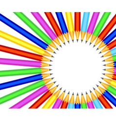 pencil border vector image