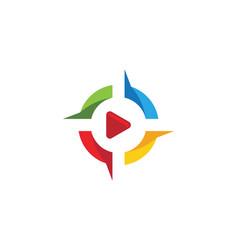 Play logo template design vector