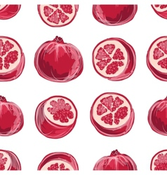 Pomegranate seamless pattern for your design vector image vector image