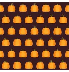 Seamless halloween pumpkin pattern vector