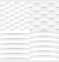 Set of white geometric seamless textures vector