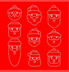 Set santa claus cartoon character vector