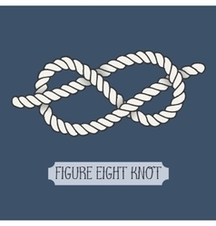 Single of nautical knot vector image