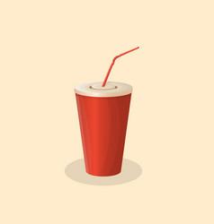 soda cup vector image