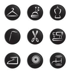 tailoring object icon vector image vector image