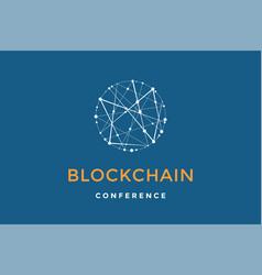 Template emblem for blockchain technology vector