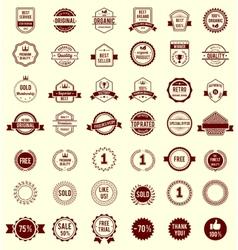 Variety Designs Retro Vintage Badges vector image vector image