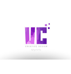 Vc v c pink alphabet letter logo combination with vector