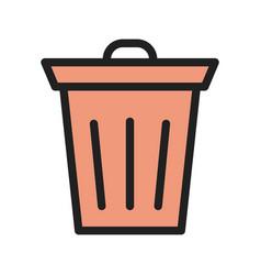 Waste bin vector