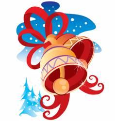 winter hand bells vector image vector image