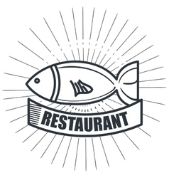Restaurant seafood delicacies isolated icon design vector
