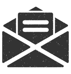 Open mail icon rubber stamp vector