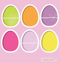 Easter eggs happy easter card vector