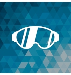 Glasses accessory sport winter blue abstract vector