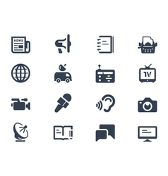 Journalism icons vector
