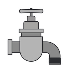 Color image of faucet icon vector