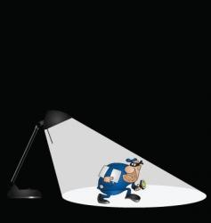 Lamp burglar vector
