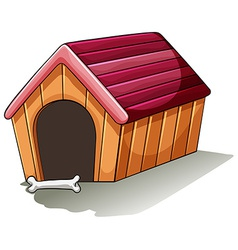 A wooden doghouse vector