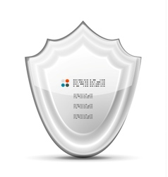 3d white protection concept vector image