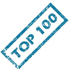 Rubber stamp top 100 vector