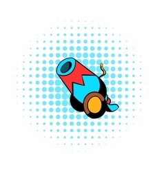 Circus cannon comics icon vector