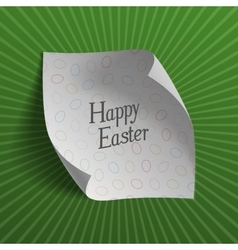 Easter realistic greeting card template with text vector