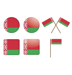 Badges with flag of belarus vector