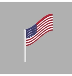 American flag is a perspective view vector image vector image