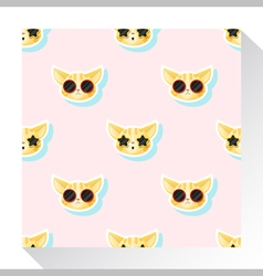 Animal seamless pattern collection with cat 1 vector