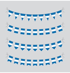 argentinian bunting vector image vector image