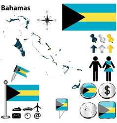 Bahamas map vector