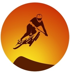 Bicycle extreme sport racer vector