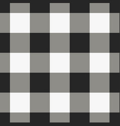 black and white check pattern vector image vector image