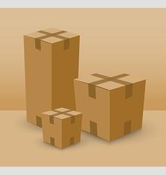 cardboard box set vector image vector image