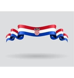 Croatian wavy flag vector image vector image