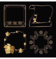 Decorative gold frame vector