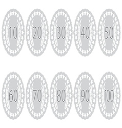 Emblem badge anniversaries set vector image