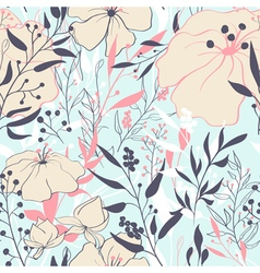 Floral seamles pattern vector