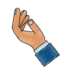 hand palm open vector image