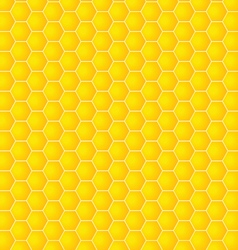 honeycomb background yellow vector image